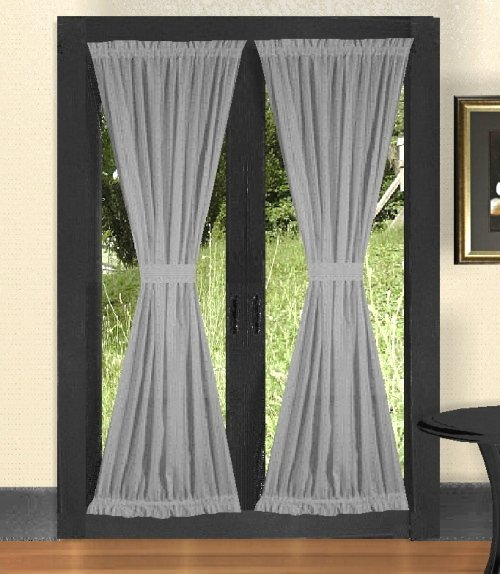 Luxury Modern Curtains Solid Light Silver Gray French