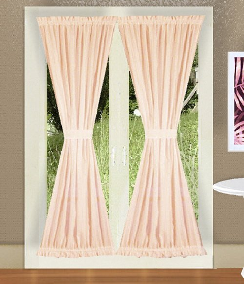 Buy Designer Curtains Online Solid Nude Blush Pink Colored French Door Curtains