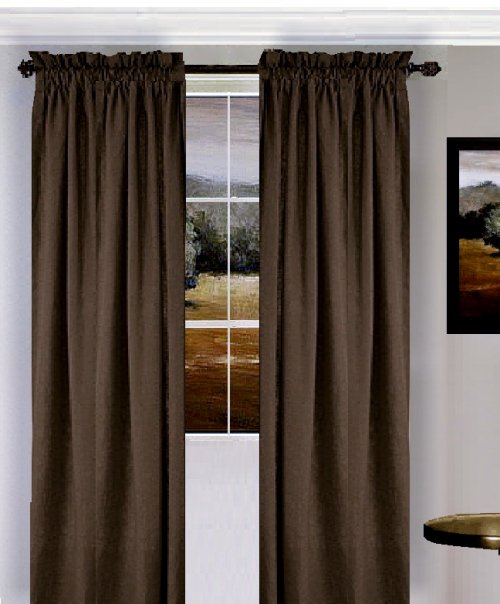 Brown bathroom shower curtains - Home Gt Curtains Gt Solid Brown Colored Window Long Curtain Available