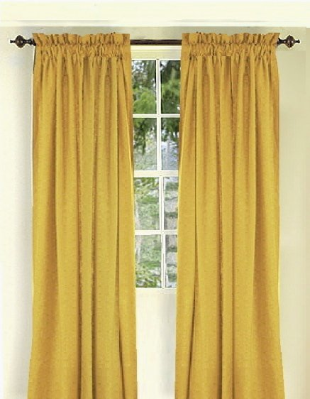 Solid Gold Colored Window Long Curtain Available In Many