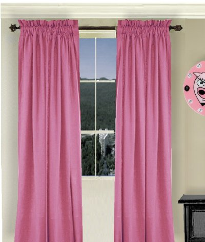 Solid Hot Pink Fuchsia Colored Shower Curtain