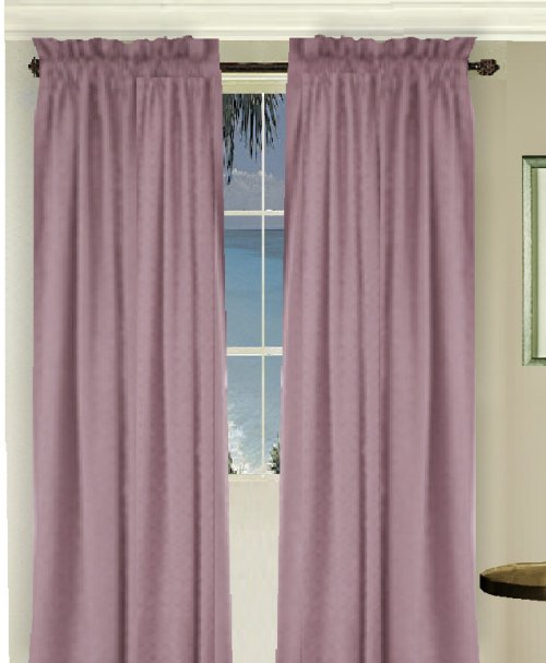 Solid Powder Plum Colored Long Window Curtain Available