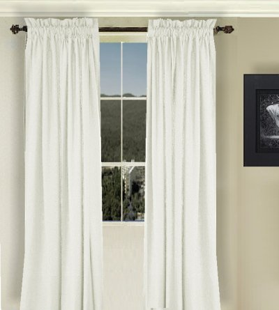 Solid Off White Colored Window Long Curtain Available In