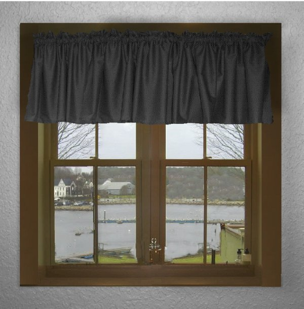 Solid Black Color Valance In Many Lengths Custom Size