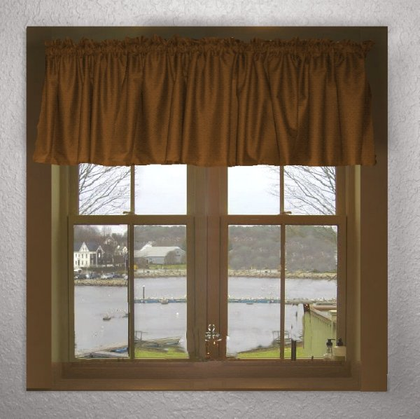 Solid Copper Brown Color Valance In Many Lengths Custom Size