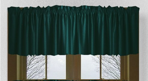 Solid Dark Teal Color Valance In Many Lengths Custom Size