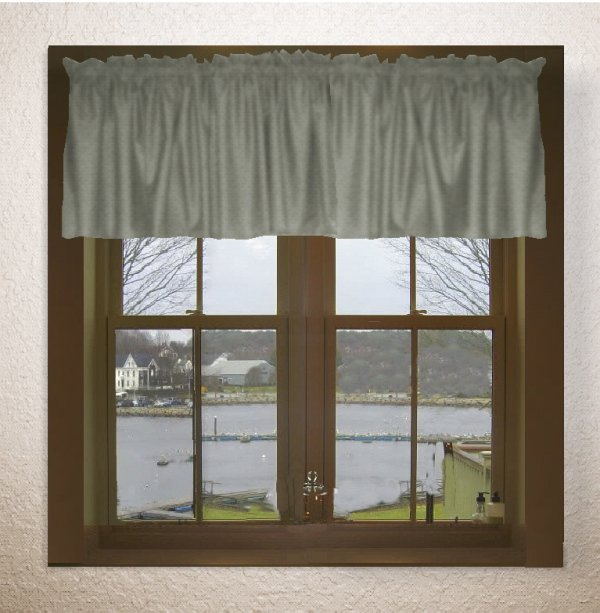 Solid Medium Gray Color Valance In Many Lengths Custom Size