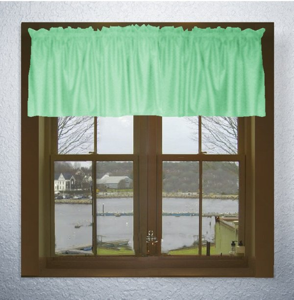 Solid Mint Green Color Valance In Many Lengths Custom Size