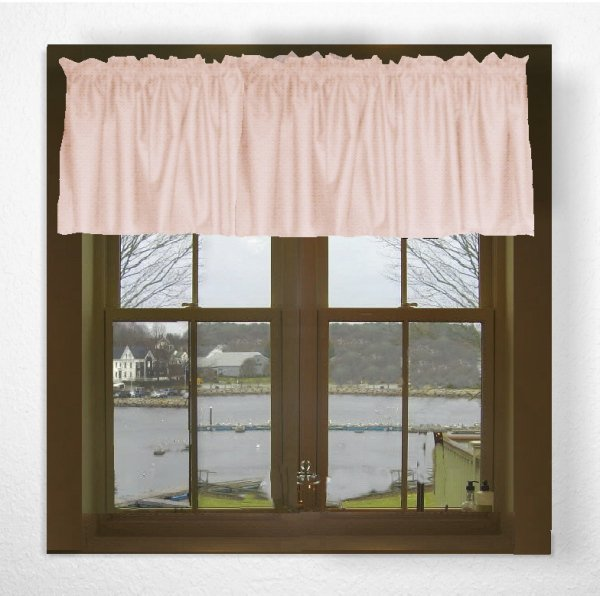 Solid Nude Blush Pink Color Valance In Many Lengths