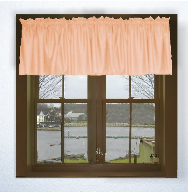 Solid Peach Color Valance In Many Lengths Custom Size