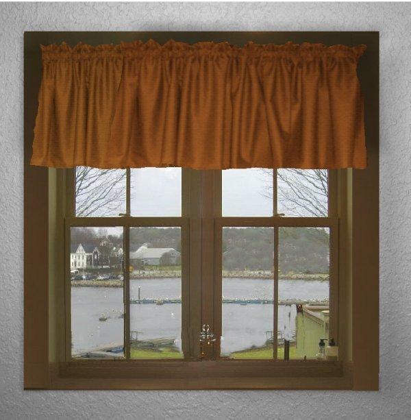 Solid Rust Color Valance In Many Lengths Custom Size