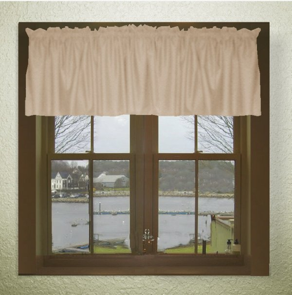 Solid Tan Beige Color Valance In Many Lengths Custom Size