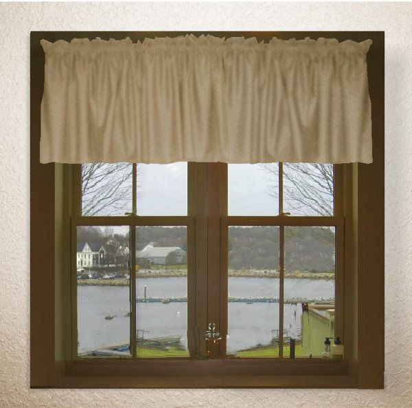 Solid Taupe Khaki Color Valance In Many Lengths Custom Size