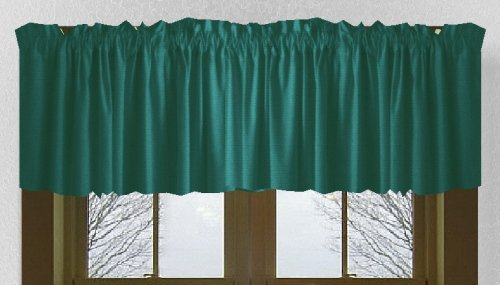 Solid Teal Color Valance In Many Lengths
