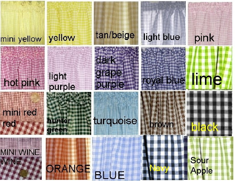 Gingham Check Fabric In Many Colors By The Yard