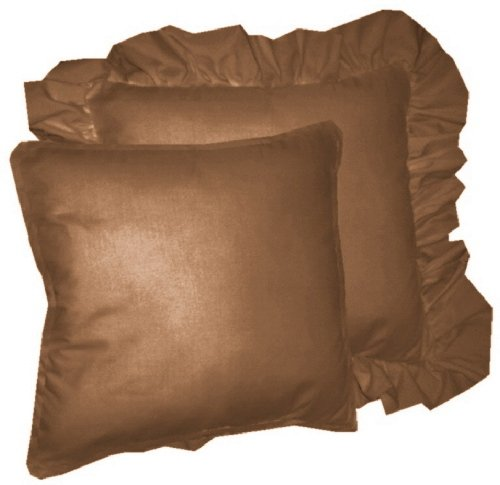 Solid Copper Brown Colored Accent Pillow With Removable