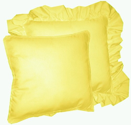 Solid Lemon Yellow Colored Accent Pillow With Removable
