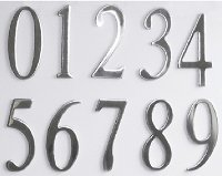 Stainless Steel Mailbox or House Numbers (2inch) with Exterior Grade Adhesive