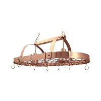 Elegant Designs 2 Light Kitchen Pot Rack with Downlights