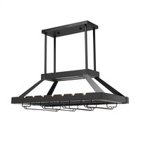 2 Light Led Overhead Wine Rack, Oil Rubbed Bronze