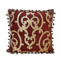 Corsica - Red 18 X 18 Throw Pillow With Tassels