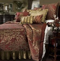 Glenaire, 4-PC King Comforter Set (Pomegranate)