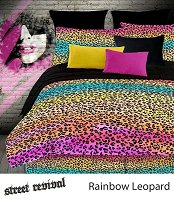 Rainbow Leopard by Veratex, 4-PC King Comforter Set (Multi)