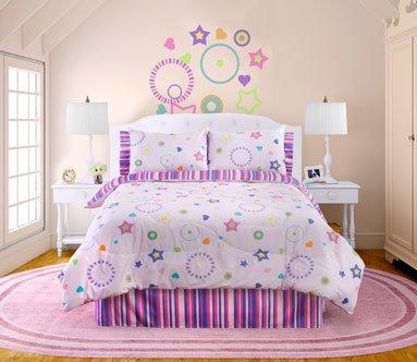Star Dance 4 Pc Full Comforter Set Pink Multi
