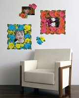 176 Roses Sticker Frames Removable Wall Decal