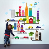 French Bull City Wall Stickers