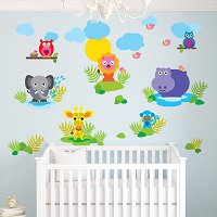French Bull Jungle Wall Decals