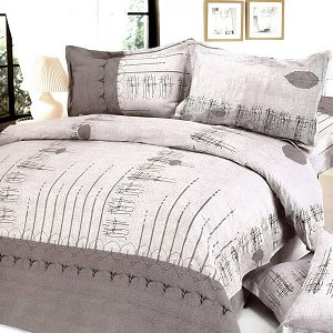 Beige Autumn, 100% Cotton 4PC Duvet Cover Set (Full Size)