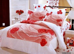 Valentine T, Girls Pink & White Floral Duvet Cover Set