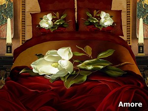 Amore by Dolce Mela, 6-PC Duvet Cover Set, Bed in a Bag King Size in Dolce Mela Gift Box