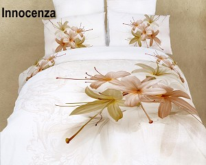 Innocenza by Dolce Mela, 6-PC Duvet Cover Set, Bed in a Bag King Size in Dolce Mela Gift Box