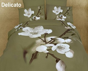 Delicato by Dolce Mela, 6-PC Duvet Cover Set, Bed in a Bag Queen Size in Dolce Mela Gift Box