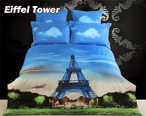 Eiffel Tower, 6-PC King Duvet Cover Set
