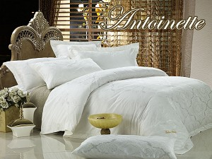 Antoinette by Dolce Mela, 6-PC King Size Egyptian Cotton Duvet Cover Set in a Beautiful Dolce Mela Gift Box DM446K