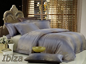 Ibiza by Dolce Mela, 6-PC King Size Egyptian Cotton Duvet Cover Set in a Beautiful Dolce Mela Gift Box DM449K