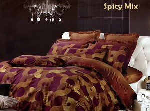 Spicy Mix by Dolce Mela, 6-PC King Size Duvet Cover Set in a Beautiful Dolce Mela Gift Box