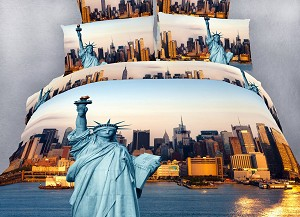 Statue of Liberty, 6 Piece King Duvet Cover Set