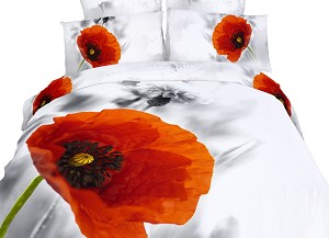 Poppies, 6 Piece Queen Duvet Cover Set
