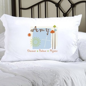 Nature's Song Personalized Pillowcase (inscribe pillowcase with name or other personal inscription, upto 20 characters)