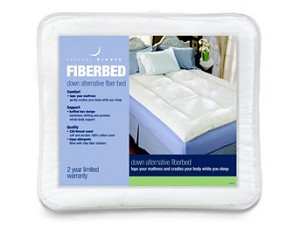Restful Nights&reg;<br />Down Alternative Fiber Bed<br /><small>Synthetic alternative to feather beds provides extra layer of cushioning support (Twin)</small>