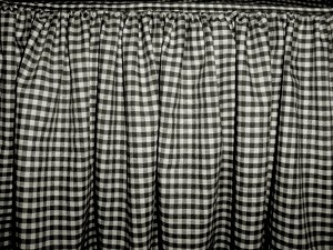 Black Gingham Check Bedskirt (in all sizes from twin to cal-king including crib and daybeds in many skirt drop lengths)