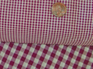 Burgundy-Wine Mini Gingham Check Bedskirt