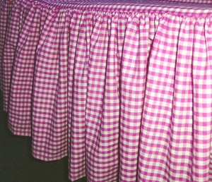 Hot Pink Gingham Check Bedskirt (in all sizes from twin to cal-king including crib and daybeds in many skirt drop lengths)