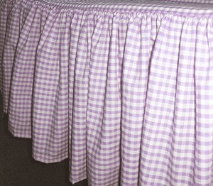 Light Purple Gingham Check Bedskirt (in all sizes from twin to cal-king including crib and daybeds in many skirt drop lengths)