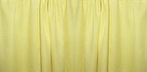 Mini Yellow Gingham Check Bedskirt