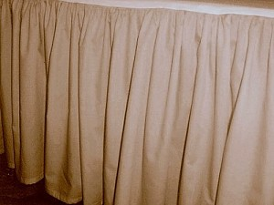 Solid Beige-Tan Colored Bedskirt (in all sizes from twin to cal-king also in crib size and daybeds with many custom skirt drop lengths)